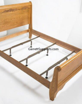 wooden bed rail and center support