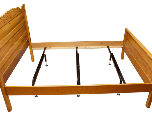 wood bed frame center support legs